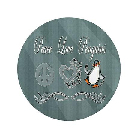 """Peace Love Penguins 3.5"""" Button (100 pack)"""