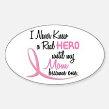 Never Knew A Hero 3 Mom BC Oval Decal