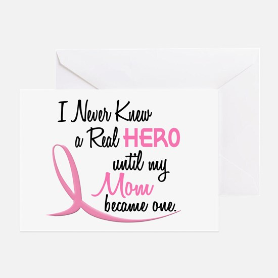 Never Knew A Hero 3 Mom BC Greeting Card