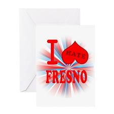 I No Heart Fresno Greeting Card