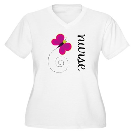 Cute Nurse Women's Plus Size V-Neck T-Shirt