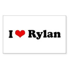 I Love Rylan Rectangle Decal