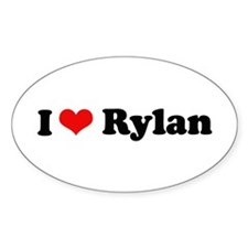 I Love Rylan Oval Decal