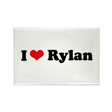 I Love Rylan Rectangle Magnet