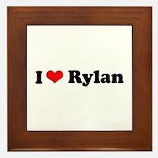 I Love Rylan Framed Tile