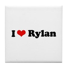 I Love Rylan Tile Coaster