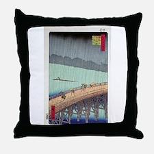 Japanese Ukiyoe Throw Pillow