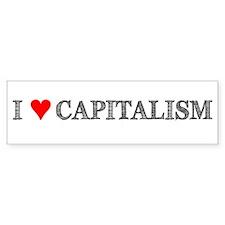 I Love Capitalism Bumper Bumper Sticker