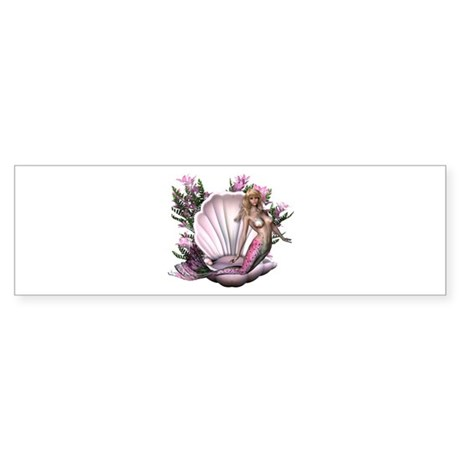Pretty In Pink Mermaid Bumper Sticker