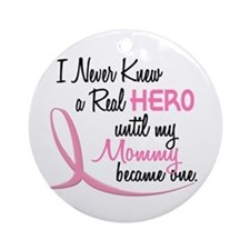 Never Knew A Hero 3 Mommy BC Ornament (Round)