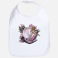 Pretty In Pink Mermaid Bib