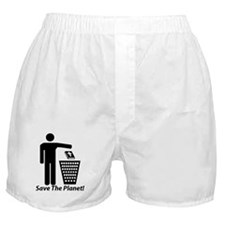 Save The Planet Boxer Shorts