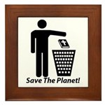 Save The Planet Framed Tile