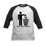 Save The Planet Kids Baseball Jersey