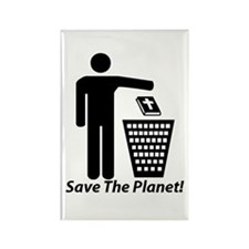 Save The Planet Rectangle Magnet