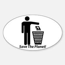 Save The Planet Oval Sticker (50 pk)