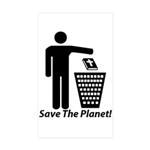 Save The Planet Rectangle Sticker 10 pk)