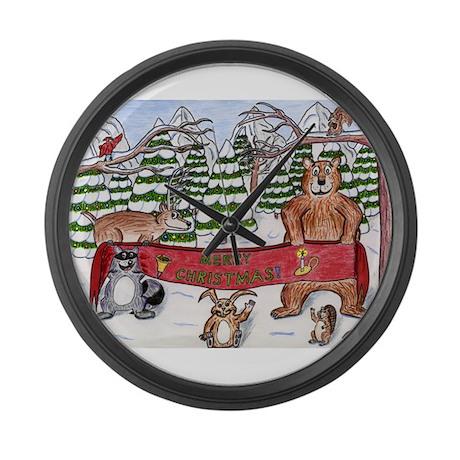 Christmas Winter Wonderland Large Wall Clock