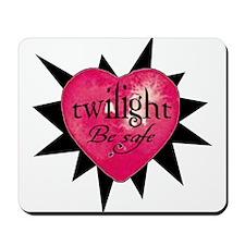 twilight be safe heart /blkst Mousepad
