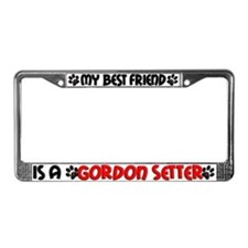 Gordon Setter License Plate Frame
