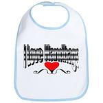 I Love Handbags Bib
