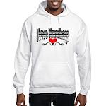 I Love Handbags Hooded Sweatshirt