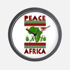 Peace in Africa Wall Clock