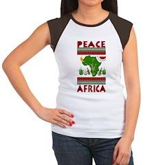 Peace in Africa Women's Cap Sleeve T-Shirt