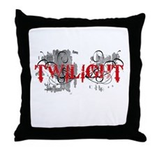 Twilight Distressed Graphic Throw Pillow