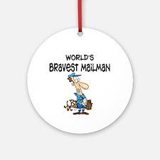 Humorous Mailman Ornament (Round)