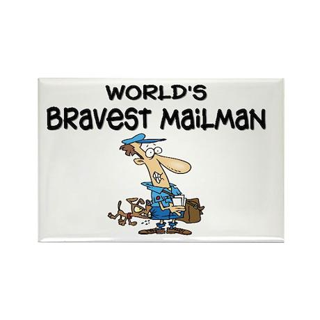 Humorous Mailman Rectangle Magnet