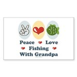 Peace Love Fishing With Grandpa Sticker