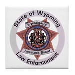 Wyoming Brand Inspector Tile Coaster