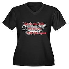 Lion and Lamb Women's Plus Size V-Neck Dark T-Shir