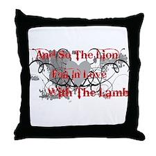 Lion and Lamb Throw Pillow