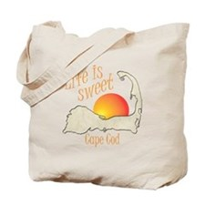 Life is Sweet Cape Cod Tote Bag