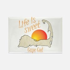 Life is Sweet Cape Cod Rectangle Magnet