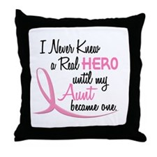 Never Knew A Hero 3 Aunt BC Throw Pillow