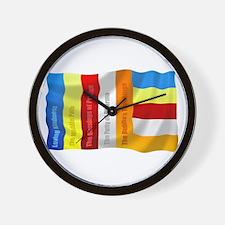 Buddhist Flag Wall Clock