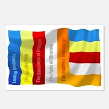 Buddhist Flag Postcards (Package of 8)