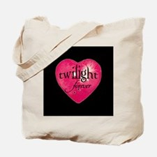 twilight forever heart /blk Tote Bag