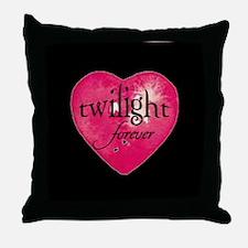 twilight forever heart /blk Throw Pillow
