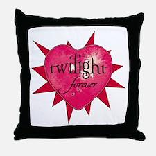 twilight forever heart /salmo Throw Pillow