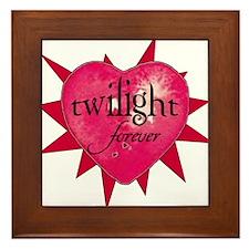 twilight forever heart /salmo Framed Tile
