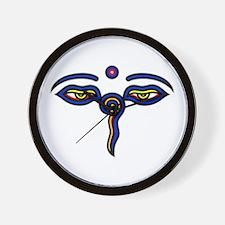 Buddha Eyes Wall Clock