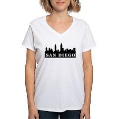 San Diego Skyline Women's V-Neck T-Shirt