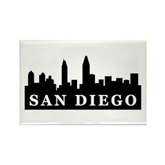 San Diego Skyline Rectangle Magnet (100 pack)