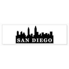 San Diego Skyline Bumper Bumper Sticker
