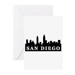 San Diego Skyline Greeting Cards (Pk of 20)