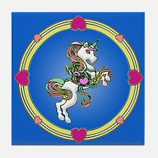 MY Pretty Unicorn Tile Coaster
